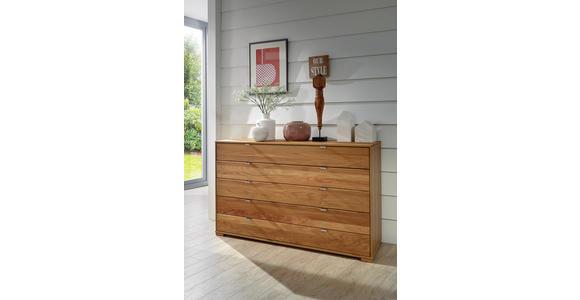 KOMMODE Eiche teilmassiv Eichefarben - Eichefarben, Design, Holz (141/86/43cm) - Dieter Knoll