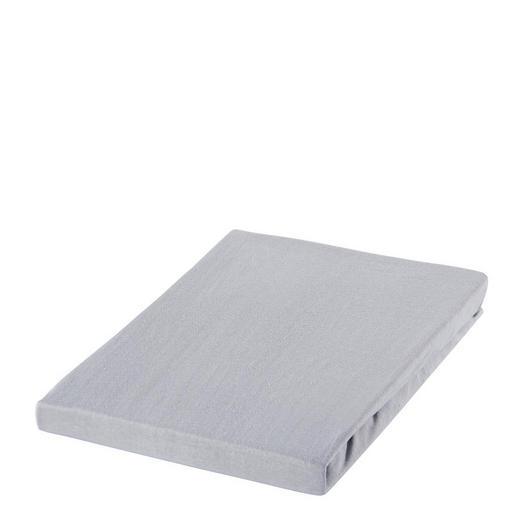 SPANNBETTTUCH Jersey Silberfarben bügelfrei, für Wasserbetten geeignet - Silberfarben, Basics, Textil (150/200cm) - Boxxx