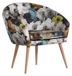 SESSEL in Textil Multicolor  - Multicolor/Naturfarben, Design, Holz/Textil (73/73/66cm) - Carryhome