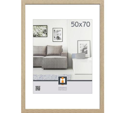 RÁM NA OBRAZY, 53/73/1,5 cm, šedá - šedá, Basics, umělá hmota/sklo (53/73/1,5cm)