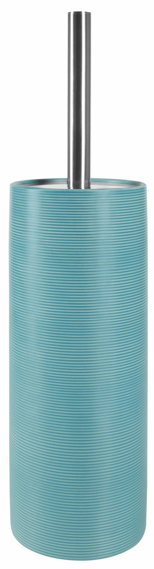 WC-BÜRSTENGARNITUR Stein - Chromfarben/Blau, Basics, Kunststoff/Stein (11/41,5/11cm) - SPIRELLA