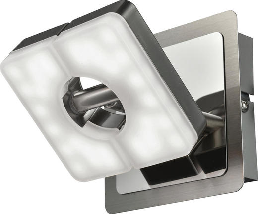 LED-STRAHLER - Nickelfarben, Design, Kunststoff/Metall (10/10cm) - Novel