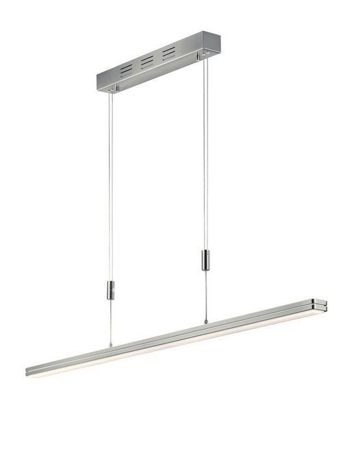 HÄNGELEUCHTE - Weiß/Nickelfarben, Design, Glas/Metall (119/150cm) - Bankamp