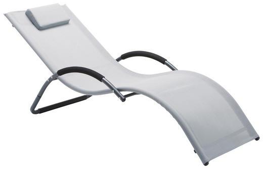 GARTENLIEGE Aluminium pulverbeschichtet Grau, Schwarz - Schwarz/Grau, Design, Textil/Metall (63/68/168cm) - Xora