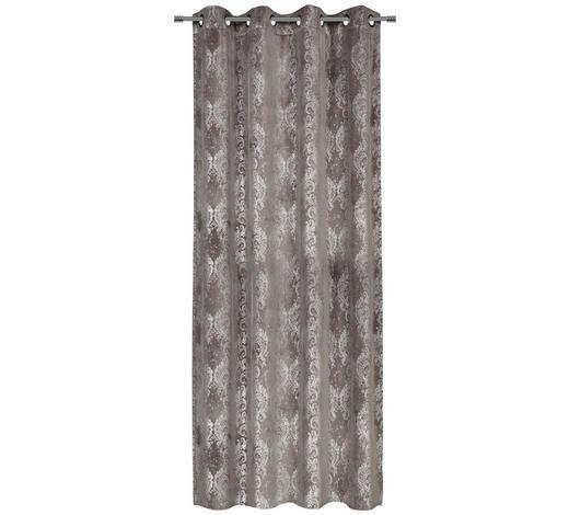 ÖSENVORHANG blickdicht - Silberfarben, Trend, Textil (140/245cm) - Esposa