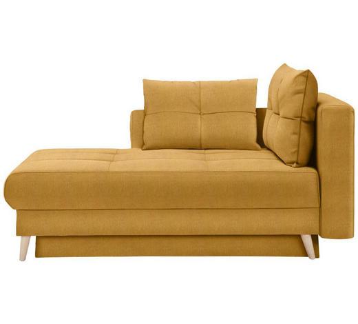 LIEGE in Textil Gelb, Orange  - Eichefarben/Gelb, KONVENTIONELL, Holz/Textil (166/96/104cm) - Venda