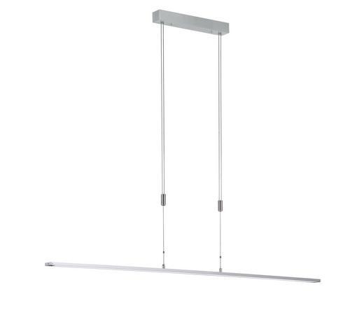 LED-HÄNGELEUCHTE - Alufarben/Weiß, KONVENTIONELL, Kunststoff/Metall (160cm)