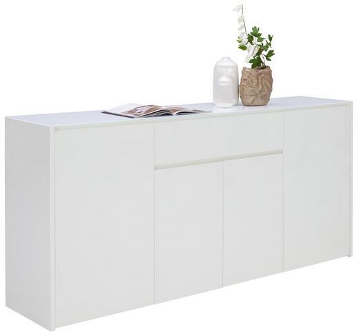 SIDEBOARD Hochglanz, lackiert Weiß - Weiß, Design, Glas/Holzwerkstoff (183,9/85,2/40cm) - Voleo