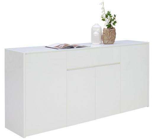 SIDEBOARD 183,9/85,2/40 cm - Weiß, Design, Glas/Holzwerkstoff (183,9/85,2/40cm) - Voleo