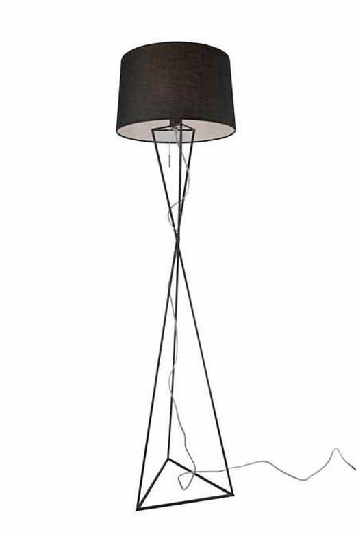 STEHLEUCHTE - Schwarz, LIFESTYLE, Metall (40/150cm)