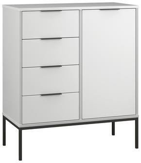 BYRÅ - vit/svart, metall/träbaserade material (80/92/39cm)