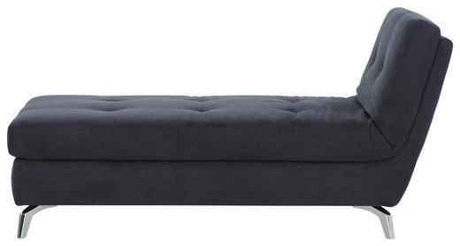 RECAMIERE in Textil Dunkelgrau - Chromfarben/Dunkelgrau, Design, Textil/Metall (200/110/83cm) - Bali
