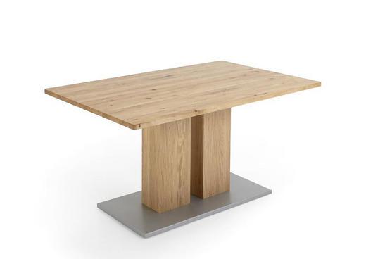 ESSTISCH Eiche massiv rechteckig Eichefarben - Eichefarben, Design, Holz (140(185)/90/75cm) - Valdera