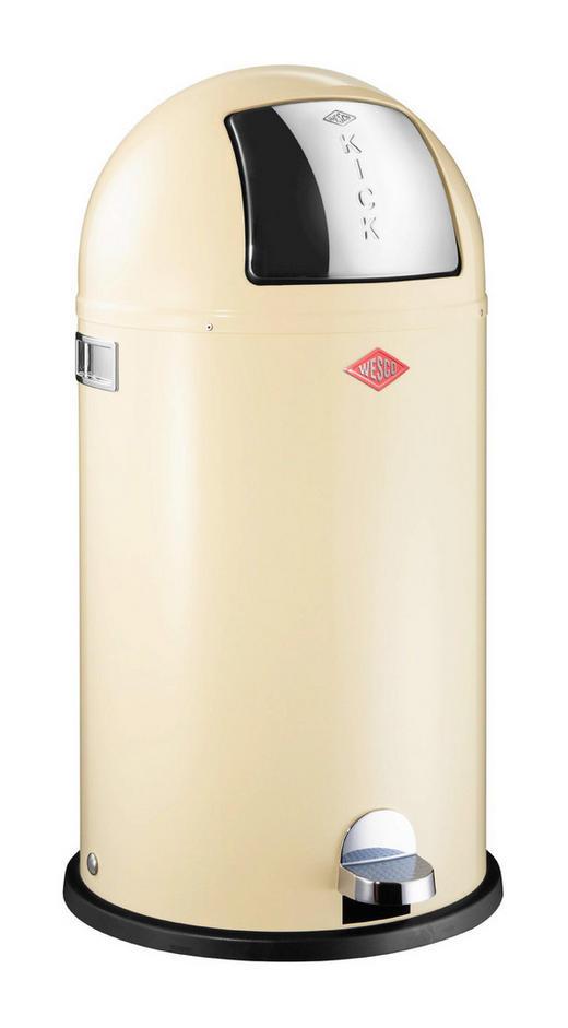 ABFALLSAMMLER KICKBOY 40 L - Edelstahlfarben/Creme, Kunststoff/Metall (40/75,5cm) - Wesco