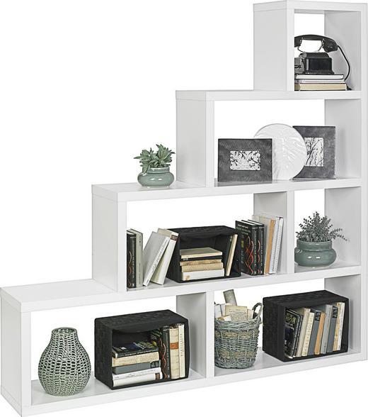 DĚLICÍ STĚNA - bílá, Design, kompozitní dřevo (164/164/29cm) - Boxxx
