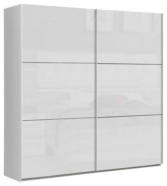 SCHWEBETÜRENSCHRANK in Weiß - Weiß, Design, Holzwerkstoff/Metall (200,1/209,7/61,2cm) - Carryhome