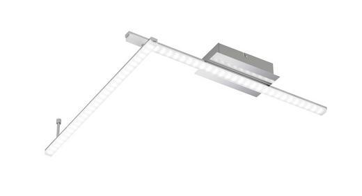 LED-DECKENLEUCHTE - Chromfarben, Design, Metall (125/9cm)