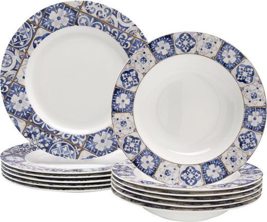MATSERVIS - vit/blå, Basics, keramik - Landscape