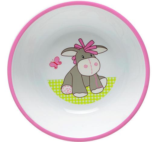 DĚTSKÁ MISKA - bílá/růžová, Trend, umělá hmota (14/3,8cm) - My Baby Lou