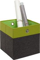 SKLÁDACÍ KRABICE - zelená/antracitová, Design, kov/karton (32/32/32cm) - Carryhome