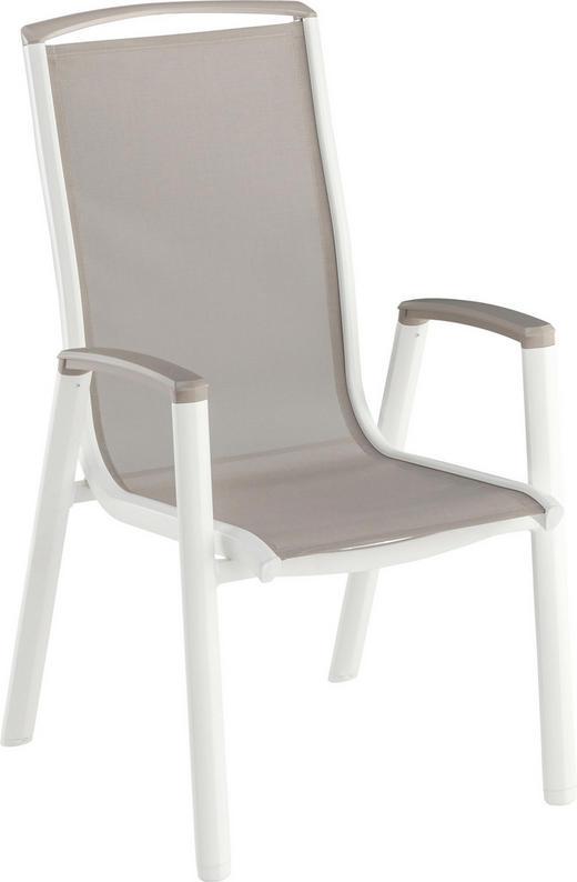 STAPELSESSEL - Weiß/Grau, Design, Textil/Metall (59/104,5/70cm) - Kettler HKS