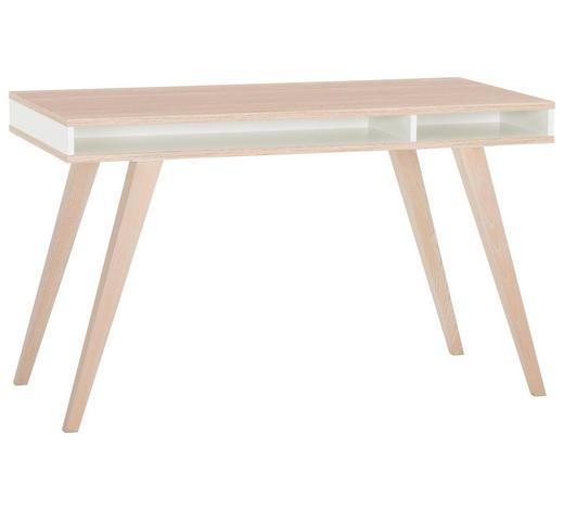 JUGENDSCHREIBTISCH Weiß, Eichefarben  - Eichefarben/Weiß, Design (120/75/60cm) - Carryhome