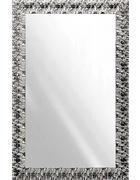 STENSKO OGLEDALO, steklo - bela/srebrna, Design, steklo/les (70/110cm) - Ti`me