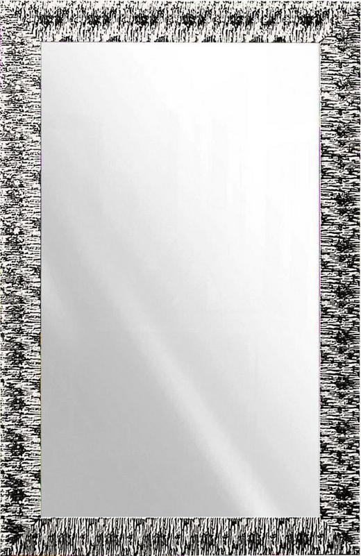 WANDSPIEGEL Silberfarben, Weiß - Silberfarben/Weiß, Design, Glas/Holz (70/110cm)