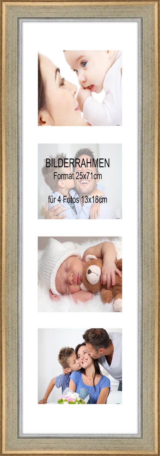 BILDERRAHMEN in Silberfarben - Silberfarben, Basics, Holz (77/31/1.8cm)