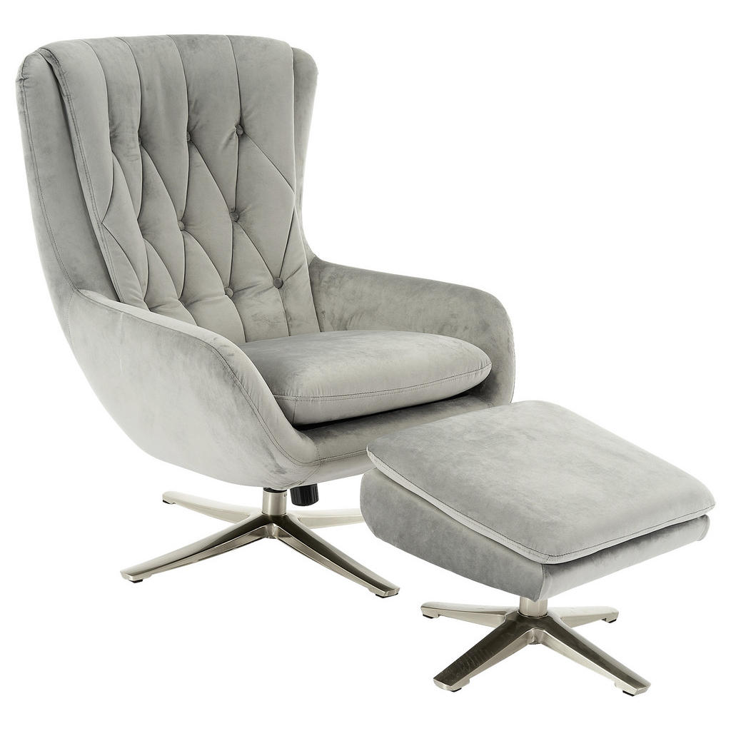 Carryhome RELAXSESSELSET Samt Hocker