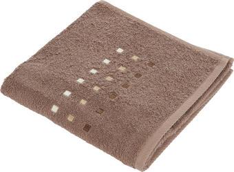 HANDTUCH 50/100 cm - Taupe/Braun, KONVENTIONELL, Textil (50/100cm) - Esposa