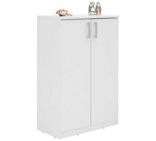 KOMODA, bílá - bílá/barvy stříbra, Konvenční, kov/kompozitní dřevo (72/110/36cm) - Xora