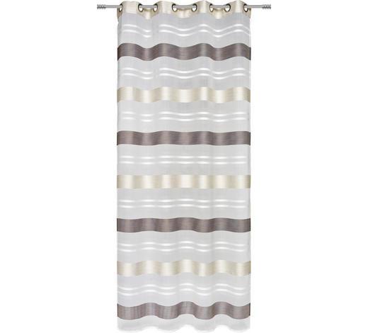 ÖSENSCHAL  halbtransparent   135/245 cm  - Schlammfarben/Beige, Basics, Textil (135/245cm) - Esposa
