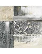SLIKA - boje srebra, Basics, drvo/tekstil (80/80cm)