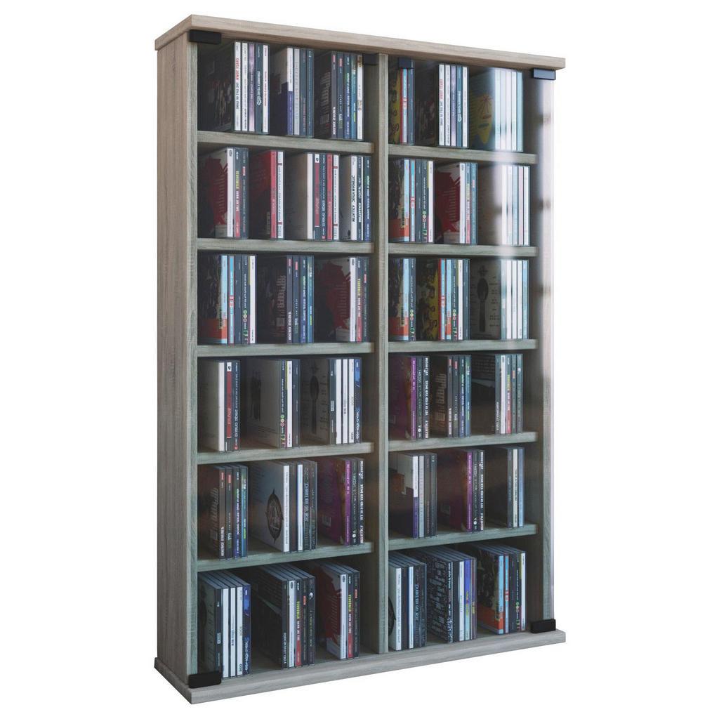 XXXL CD-REGAL Beige | Wohnzimmer > TV-HiFi-Möbel > CD- & DVD-Regale