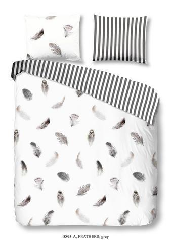 BETTWÄSCHE Renforcé Grau 135/200 cm - Grau, Trend, Textil (135/200cm)