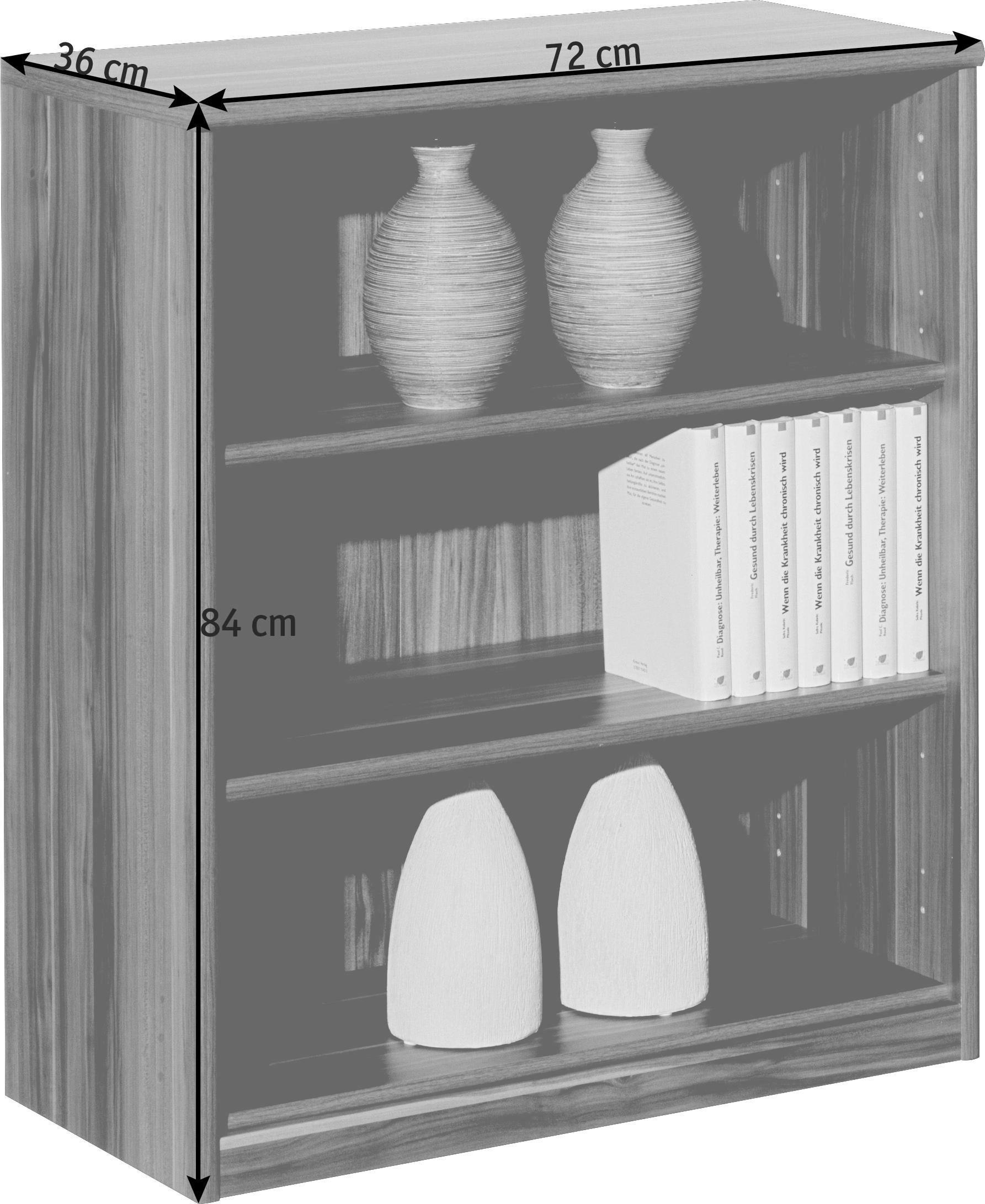 REGAL in 72/84/36 cm Ahornfarben - Ahornfarben, KONVENTIONELL, Holzwerkstoff (72/84/36cm) - CS SCHMAL