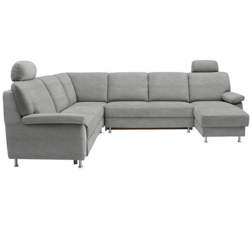 WOHNLANDSCHAFT in Textil Alufarben - Alufarben, KONVENTIONELL, Textil/Metall (250/313/155cm) - Ada Austria