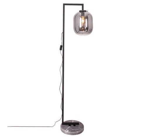 STEHLEUCHTE - Schwarz/Grau, Design, Glas/Metall (150cm) - By-Rydens