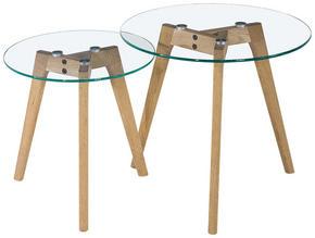 SATSBORD - klar/ekfärgad, Design, glas/trä (50/40/50/40/45/40cm) - Carryhome
