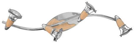 WAND- UND DECKENSPOT RENATE - KONVENTIONELL, Metall (83/17.5cm) - Ombra