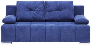 SCHLAFSOFA in Textil Dunkelblau  - Silberfarben/Dunkelblau, MODERN, Kunststoff/Textil (201/95/110cm) - Xora