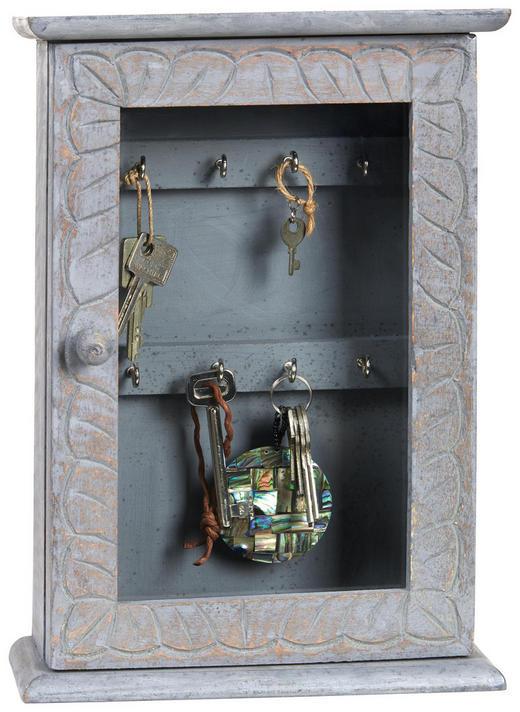 SCHLÜSSELKASTEN - Grau, LIFESTYLE, Glas/Holzwerkstoff (33/23/9cm) - Ambia Home