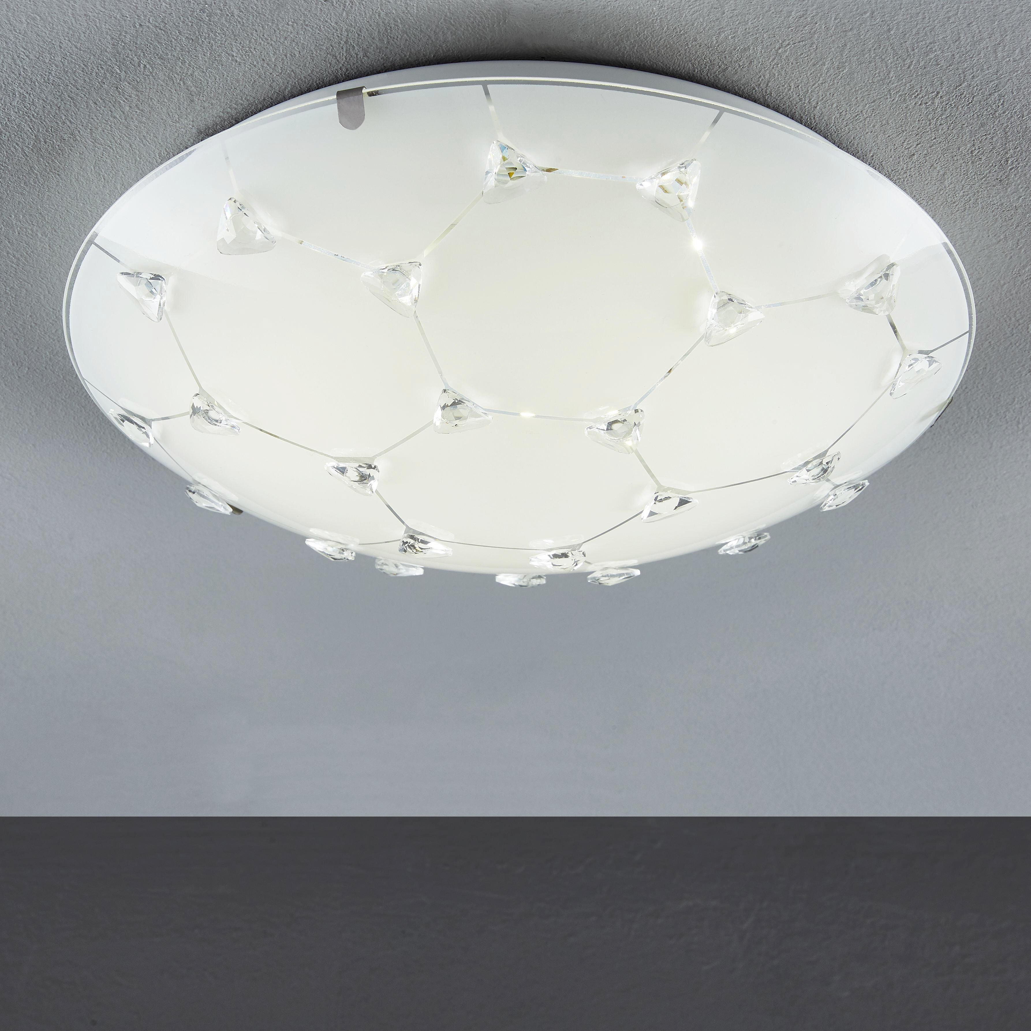 LED STROPNÍ SVÍTIDLO - bílá, Design, sklo (30cm) - BOXXX