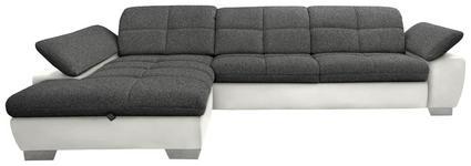 WOHNLANDSCHAFT in Textil Beige, Grau - Chromfarben/Beige, Design, Textil/Metall (204/297cm) - Xora
