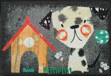 FUßMATTE 50/75 cm Hund Grau, Multicolor  - Multicolor/Grau, Basics, Kunststoff/Textil (50/75cm) - Esposa