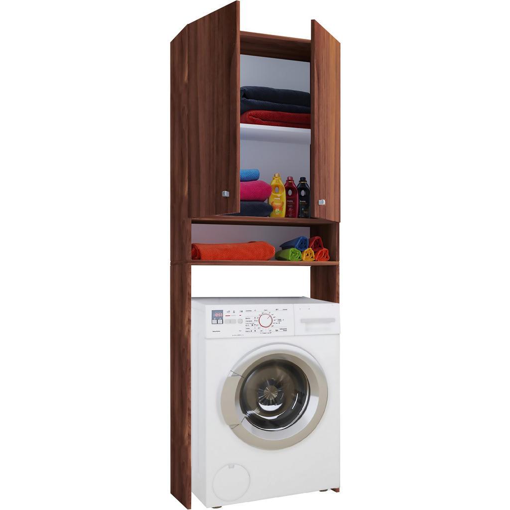 MID.YOU Waschmaschinenverbau nussbaumfarben