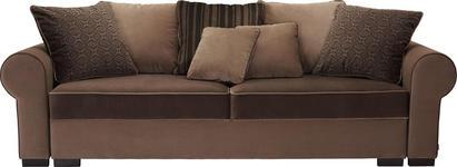 BIGSOFA Mikrofaser Braun - Braun, ROMANTIK / LANDHAUS, Kunststoff/Textil (256/74-90/106cm) - Hom`in