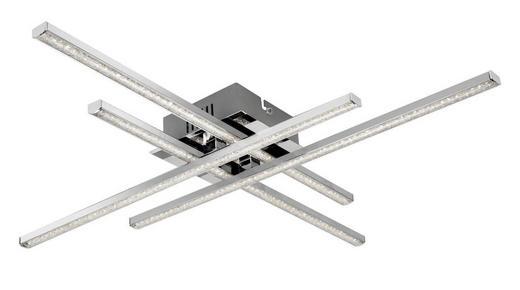 LED-DECKENLEUCHTE - Chromfarben, Design, Metall (50/50/6cm) - Novel