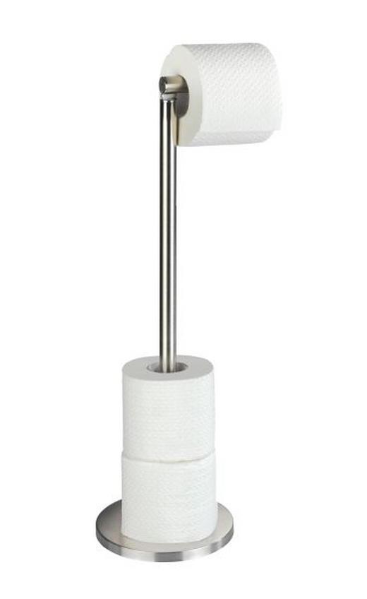 TOILETTENPAPIERHALTER - Edelstahlfarben, Design, Metall (21/55/17cm)